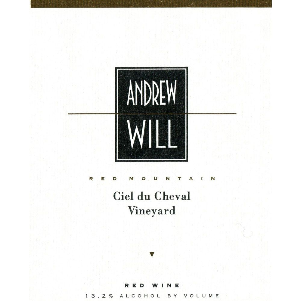 Andrew Will Winery Ciel du Cheval 2013 Front Label