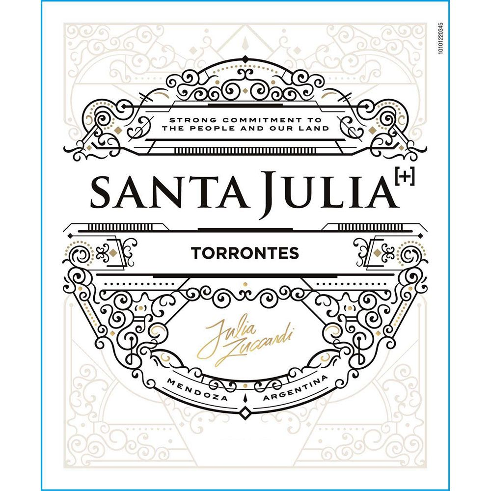 Santa Julia Plus Torrontes 2016 Front Label