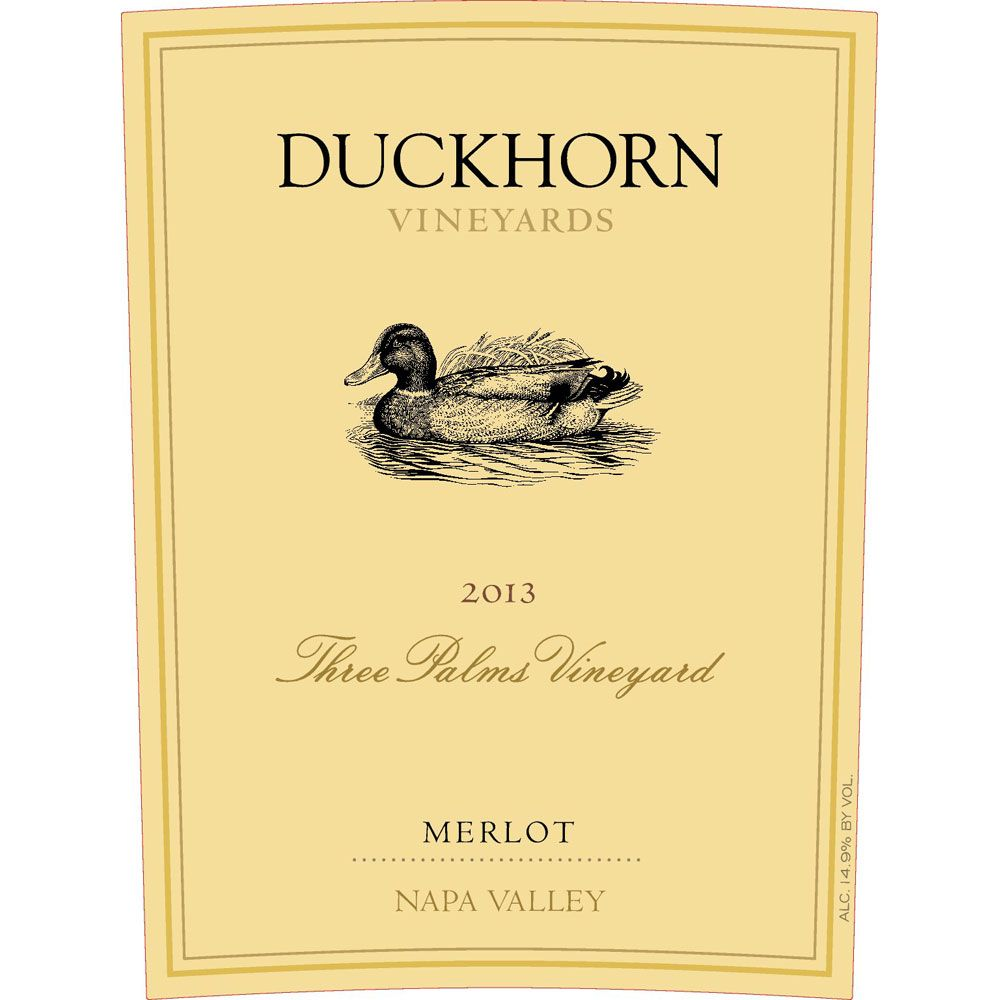 Duckhorn Three Palms Merlot (3 Liter Bottle)  2013 Front Label