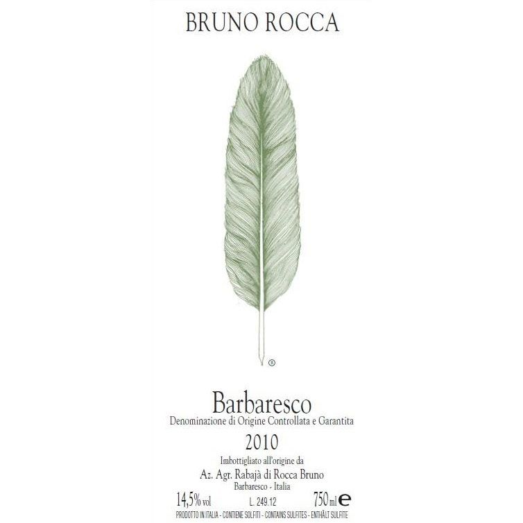 Bruno Rocca Barbaresco 2010 Front Label