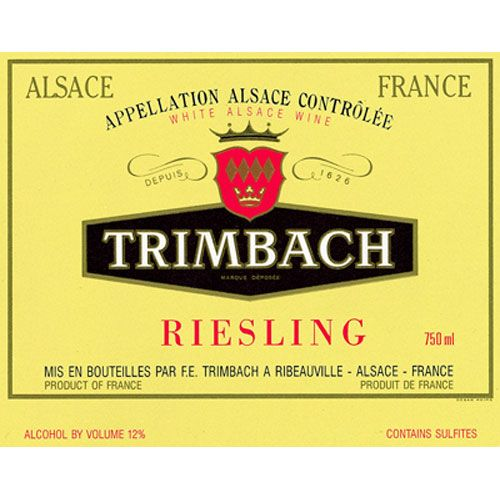 Trimbach Riesling 2014 Front Label