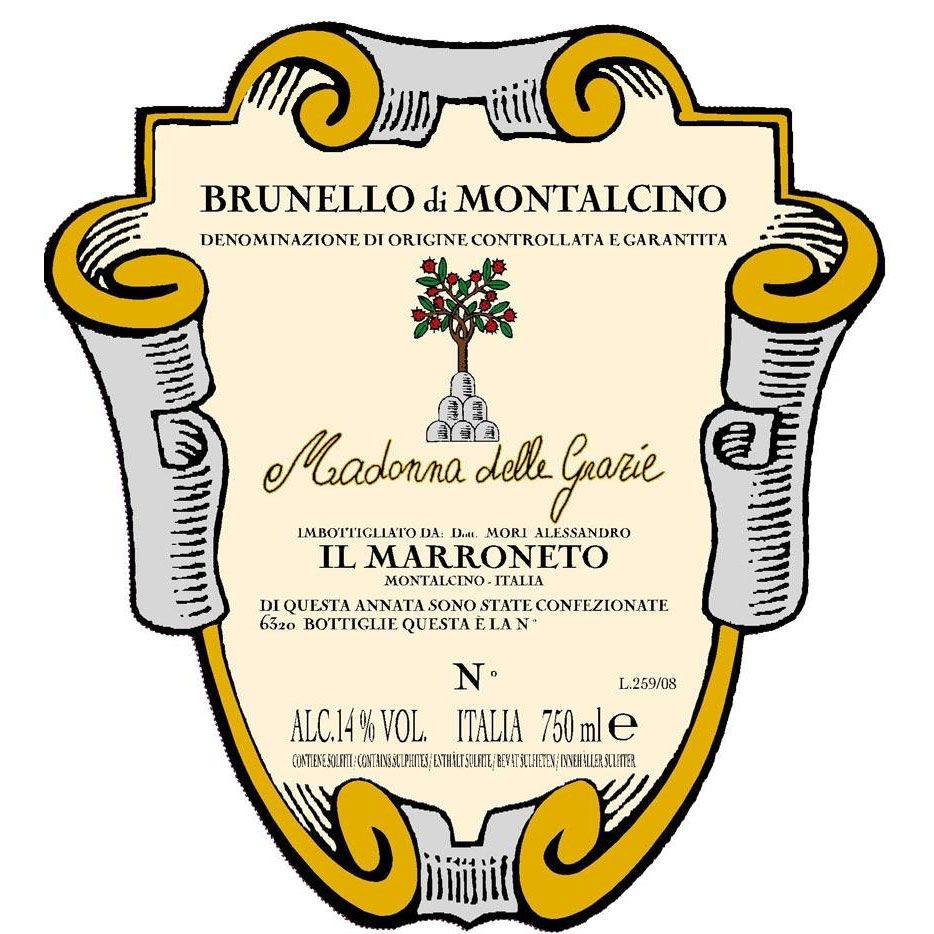 Il Marroneto Brunello di Montalcino 2000 Front Label
