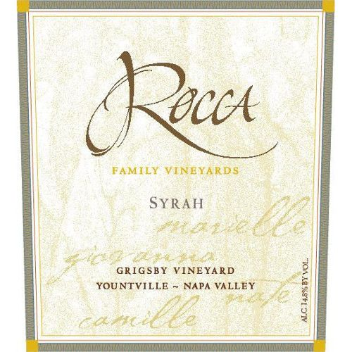 Rocca Family Vineyards Grigsby Syrah 2011 Front Label