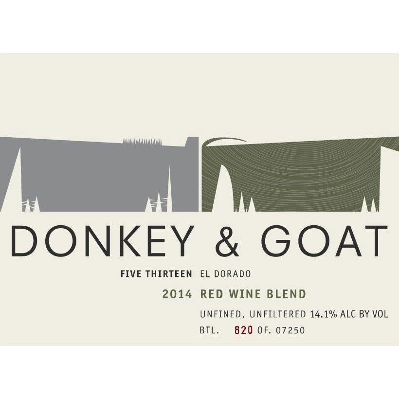 Donkey & Goat  Five Thirteen 2014 Front Label