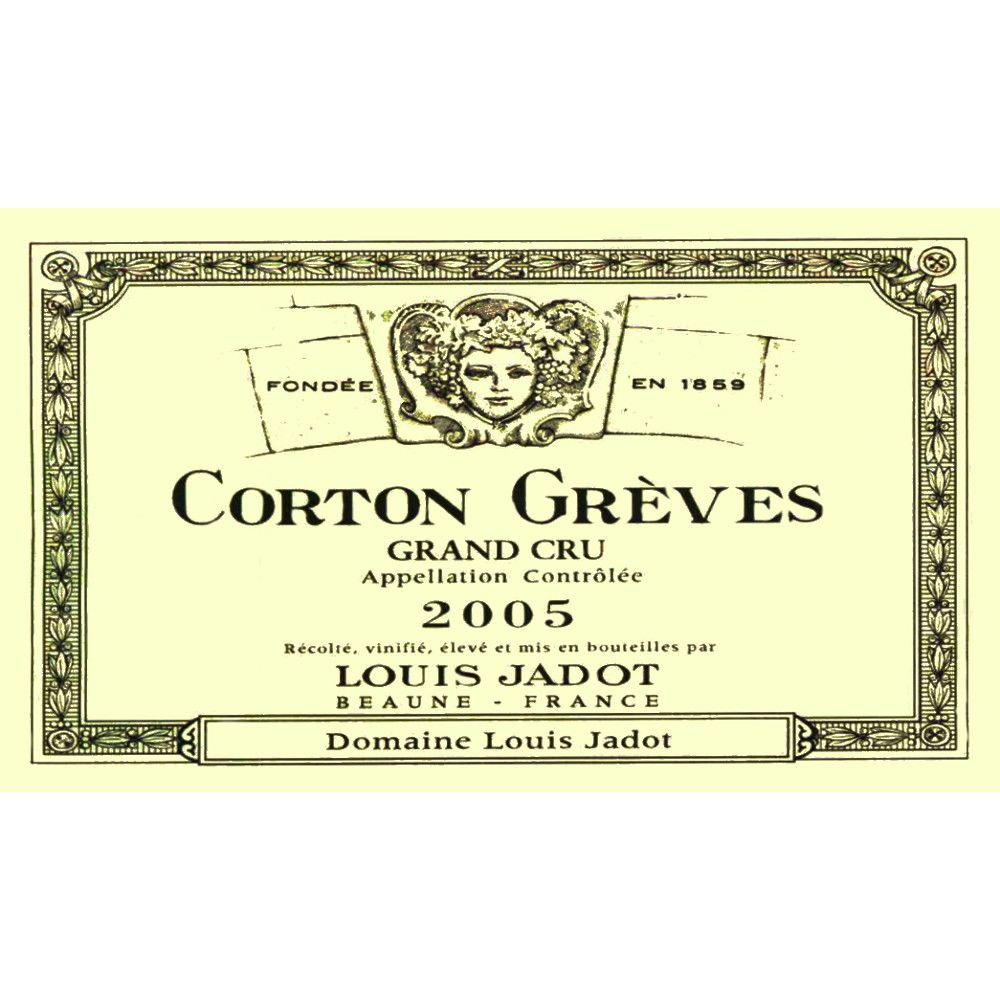 Louis Jadot Corton Greves Grand Cru 2005 Front Label