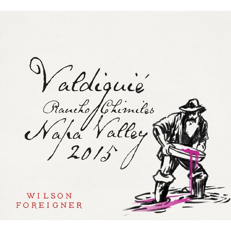 Wilson Foreigner Rancho Chimiles Napa Valley Valdiguie 2015 Front Label