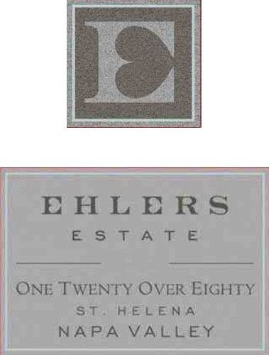 Ehlers Estate One Twenty Over Eighty Cabernet Sauvignon 2011 Front Label