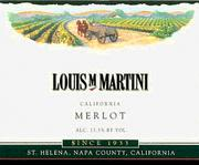Louis Martini Merlot 1997 Front Label