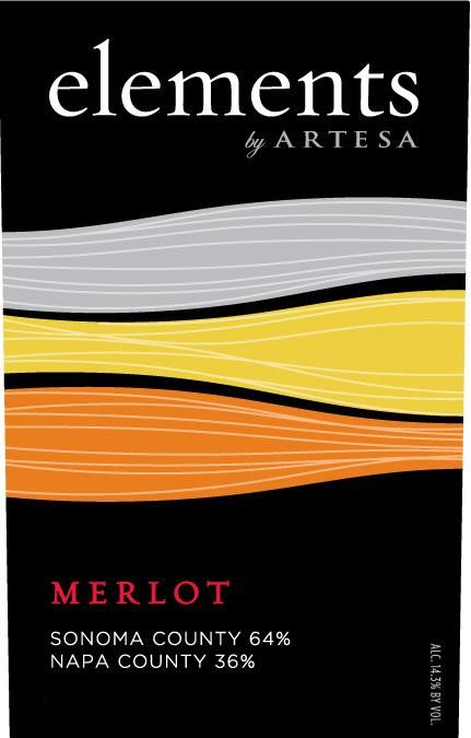Elements by Artesa Merlot 2012 Front Label