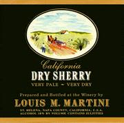 Louis Martini Dry Sherry Front Label