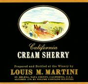 Louis Martini Cream Sherry Front Label
