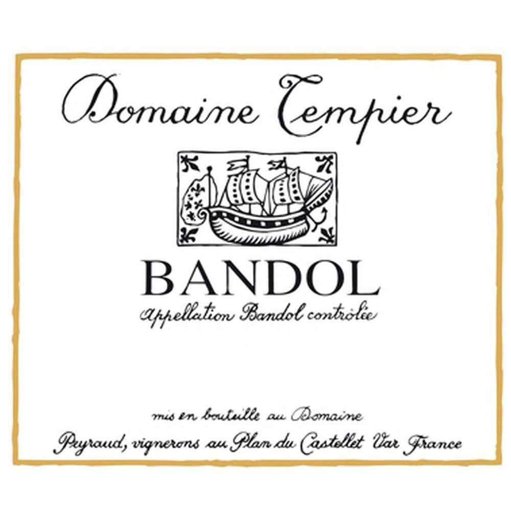 Domaine Tempier Bandol Rouge (375ML half-bottle) 2014 Front Label