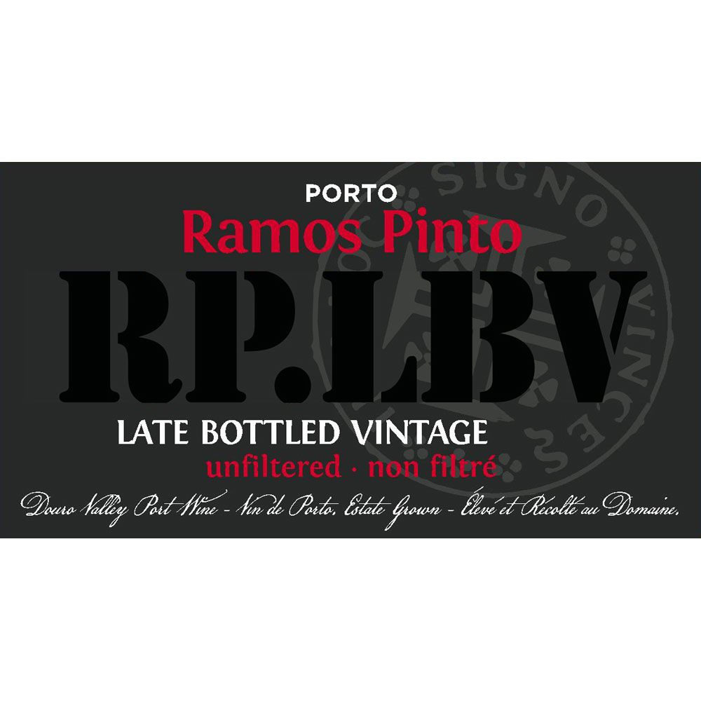 Ramos Pinto Late Bottled Vintage Port 2012 Front Label
