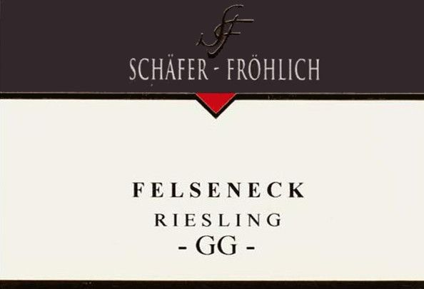 Schafer-Frohlich Felseneck Riesling Grosses Gewachs 2013 Front Label
