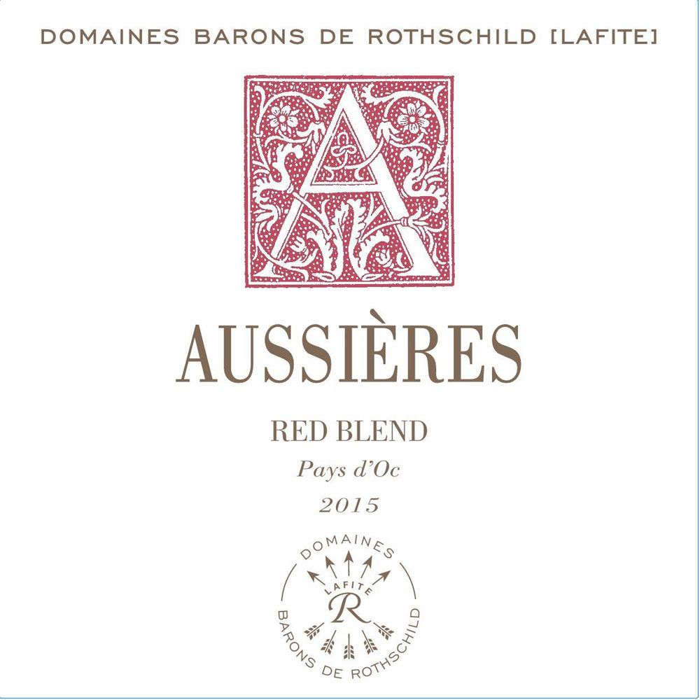 Chateau d'Aussieres Red Blend 2015 Front Label