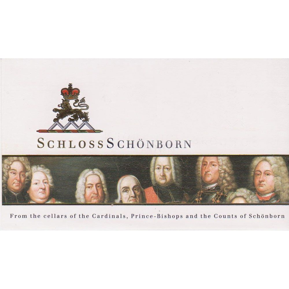Schloss Schonborn Marcobrunn Riesling Spatelese 1988 Front Label