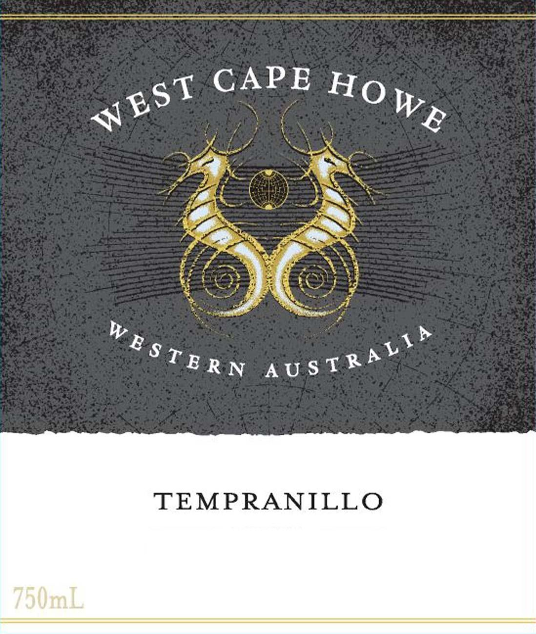 West Cape Howe Tempranillo 2010 Front Label