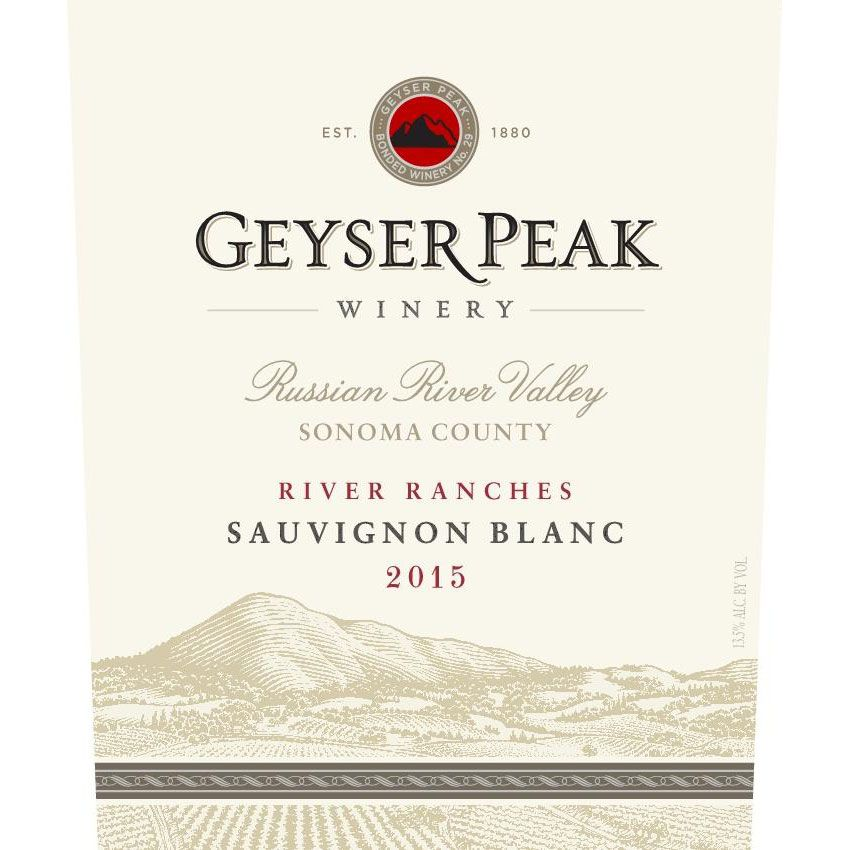 Geyser Peak River Ranches Sauvignon Blanc 2015 Front Label