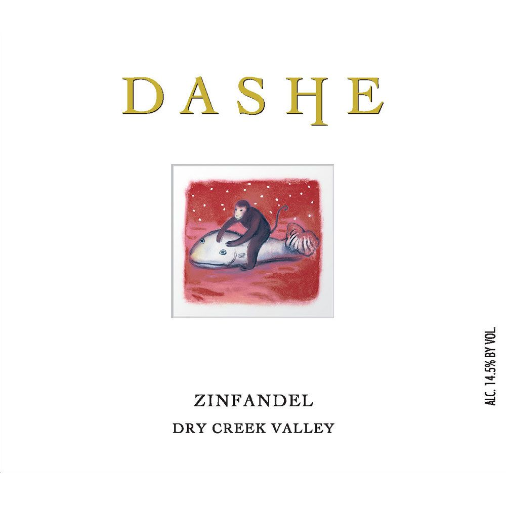 Dashe Dry Creek Zinfandel (375ML half-bottle) 2015 Front Label