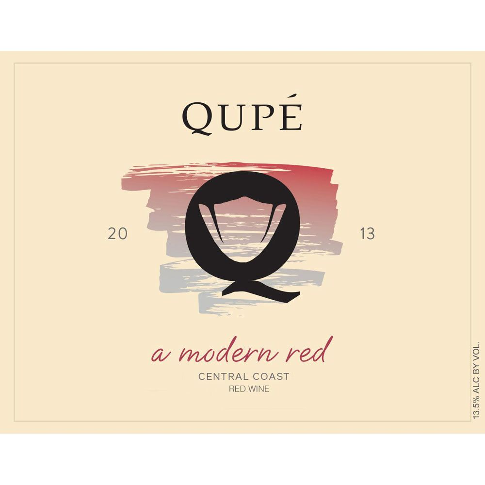 Qupe A Modern Red 2013 Front Label
