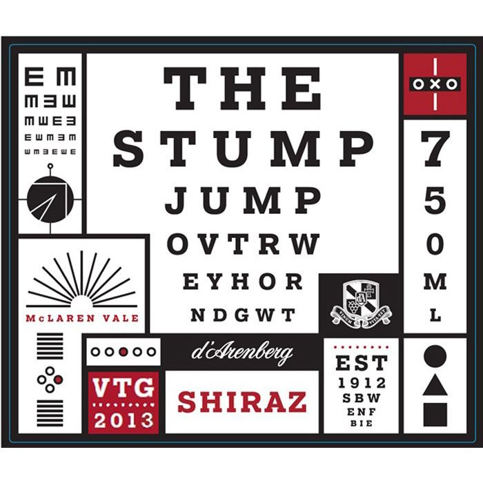 d'Arenberg The Stump Jump Shiraz 2013 Front Label