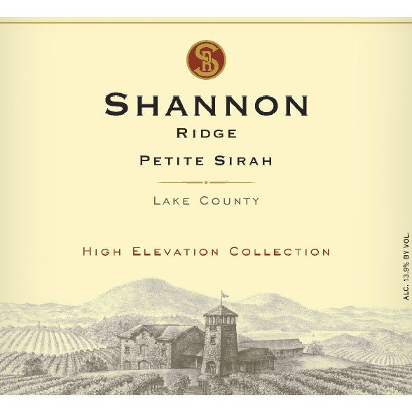 Shannon Ridge High Elevation Petite Sirah 2015 Front Label