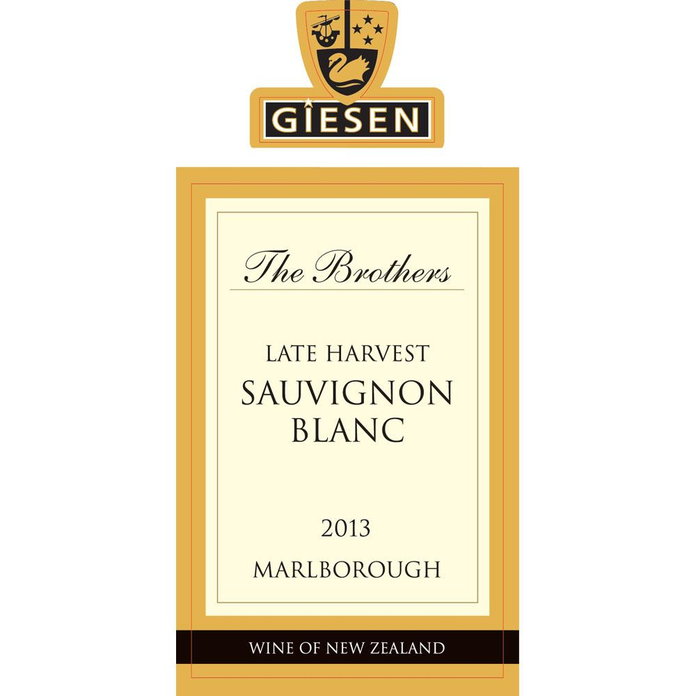 Giesen The Brothers Late Harvest Sauvignon Blanc (375ML half-bottle) 2013 Front Label