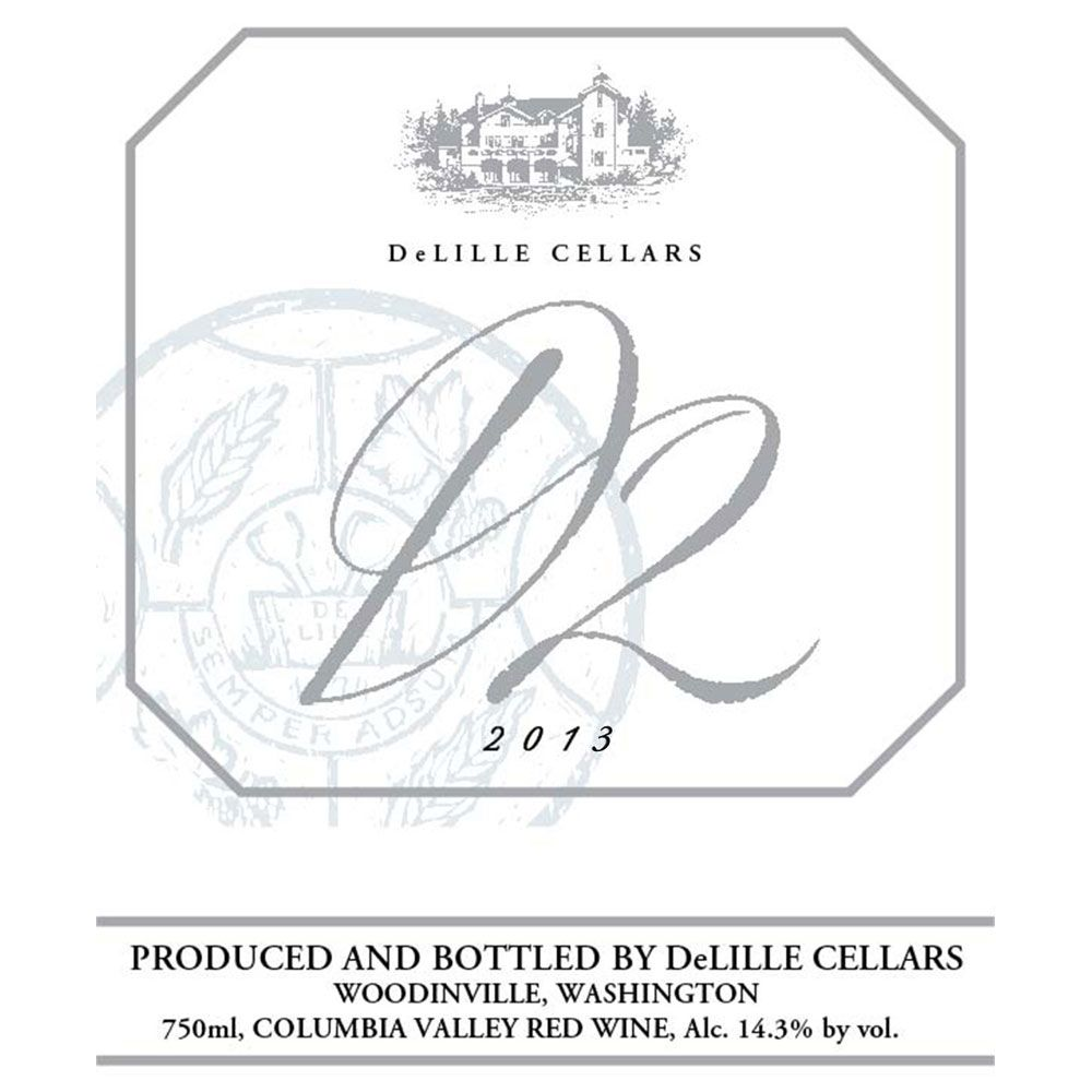 DeLille D2 Estate Red 2013 Front Label