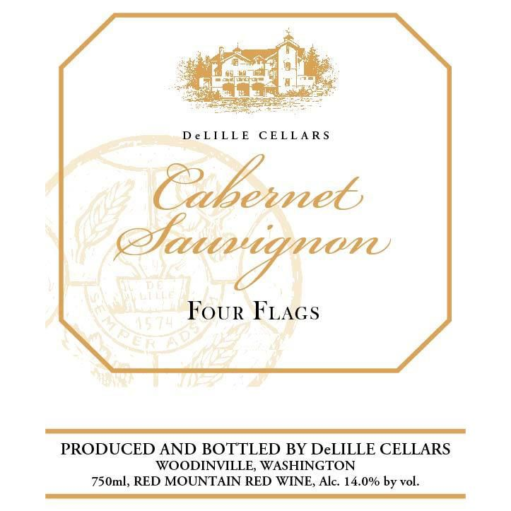 DeLille Four Flags Cabernet Sauvignon 2013 Front Label