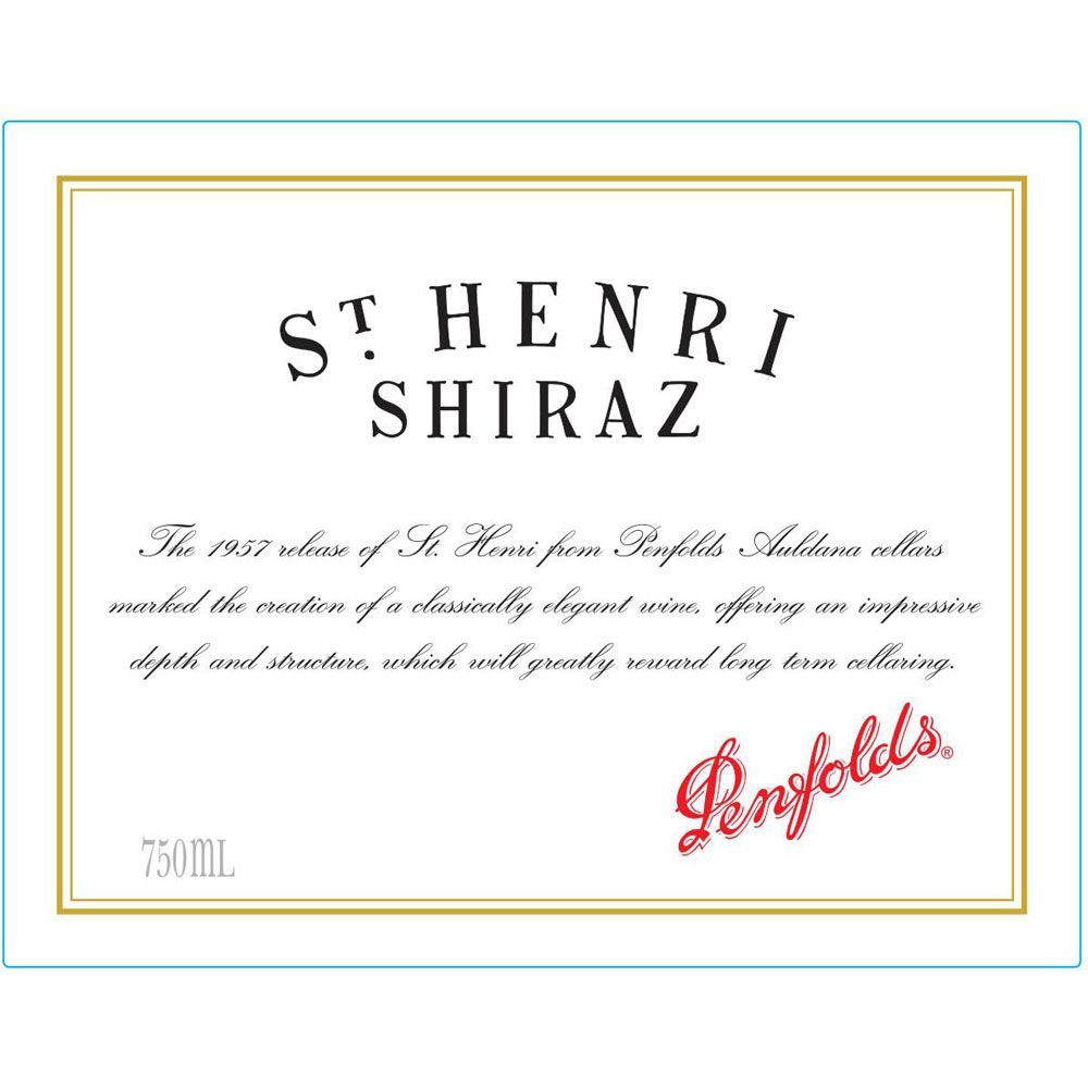Penfolds St. Henri Shiraz 2013 Front Label