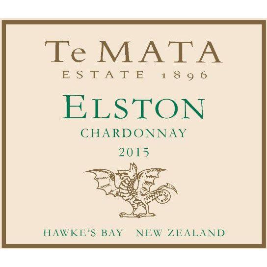 Te Mata Elston Chardonnay 2015 Front Label