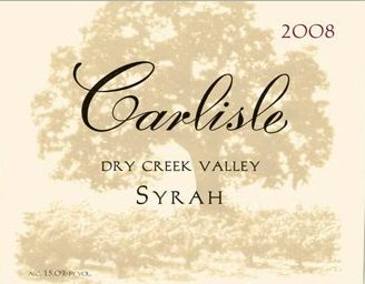 Carlisle Dry Creek Valley Syrah 2008 Front Label
