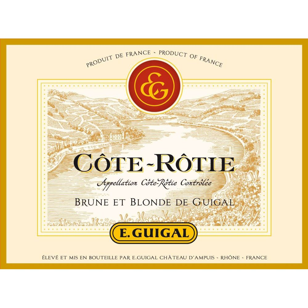 Guigal Cote Rotie Brune et Blonde (375ML half-bottle) 2012 Front Label