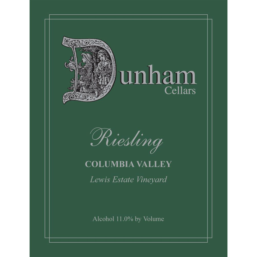 Dunham Cellars Lewis Estate Vineyard Riesling 2014 Front Label