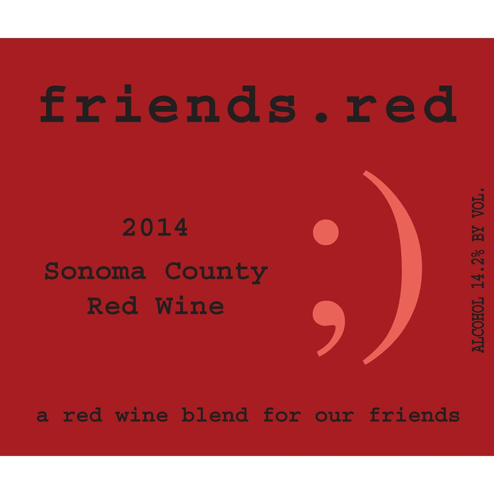 Pedroncelli friends.red 2014 Front Label