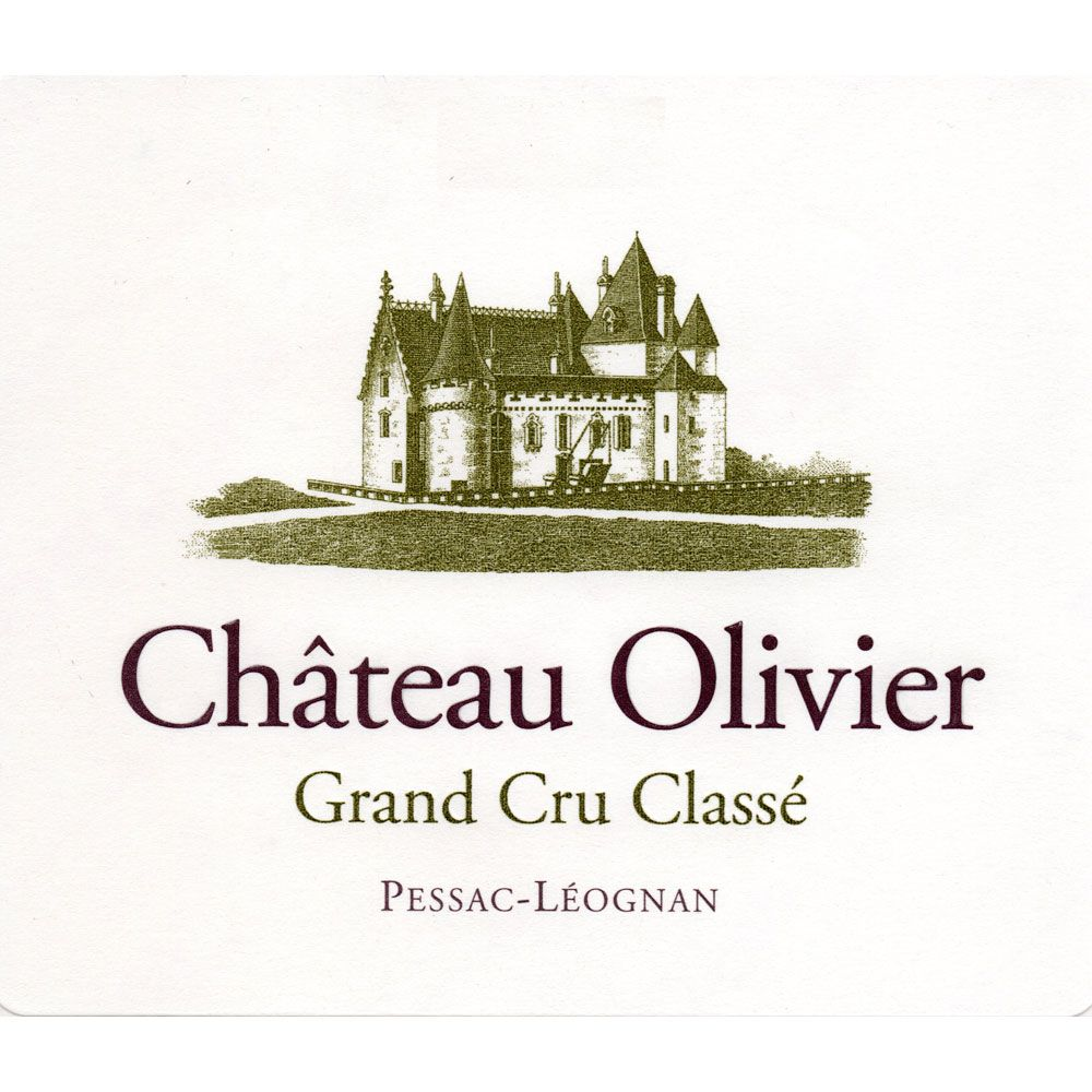Chateau Olivier Blanc 2014 Front Label