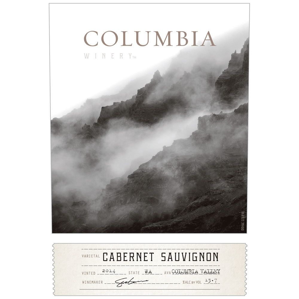 Columbia Winery Cabernet Sauvignon 2014 Front Label