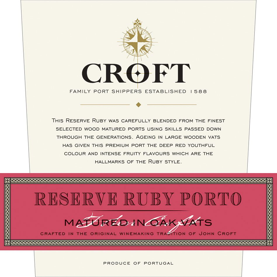 Croft Reserve Ruby Porto Front Label