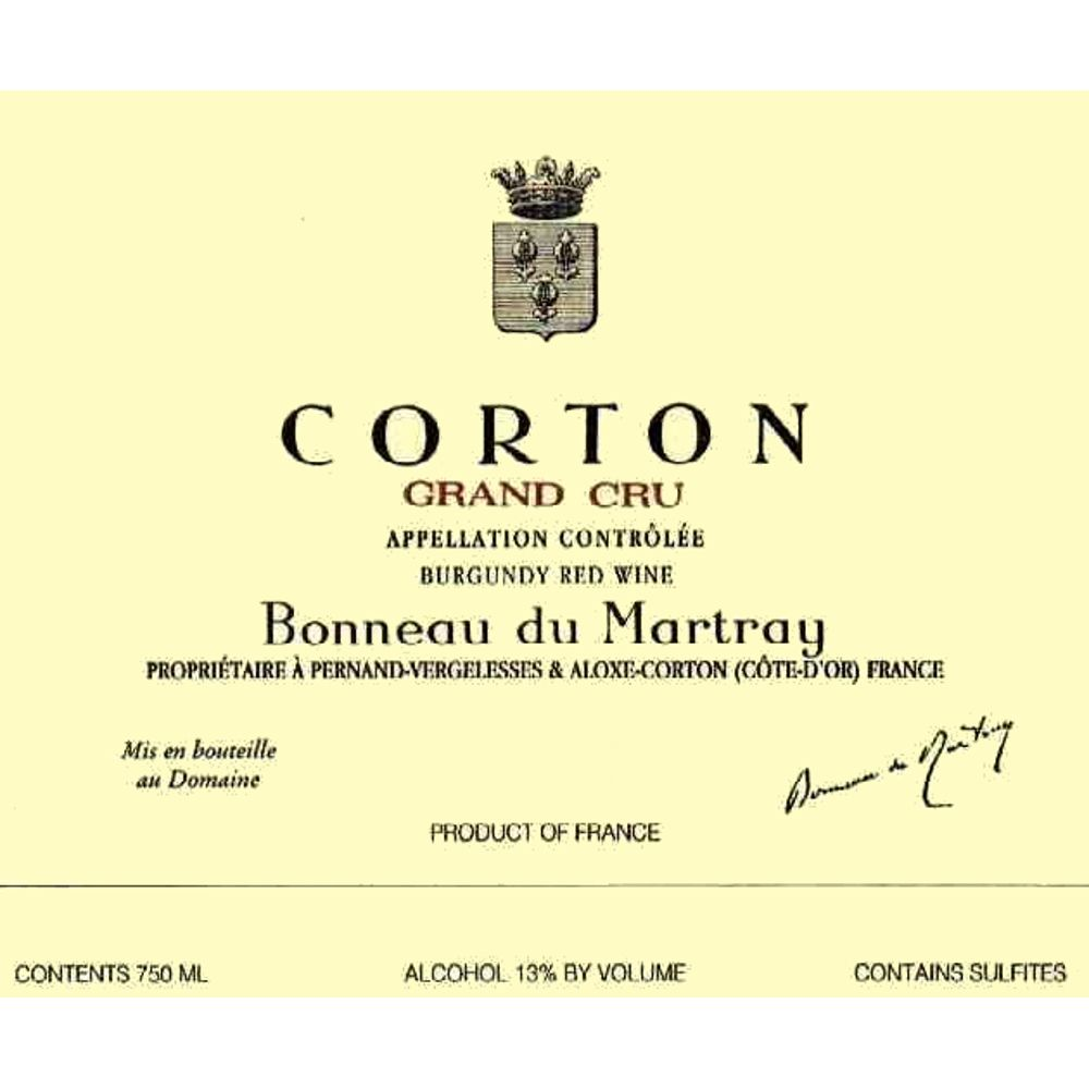 Bonneau du Martray Corton Grand Cru 2000 Front Label