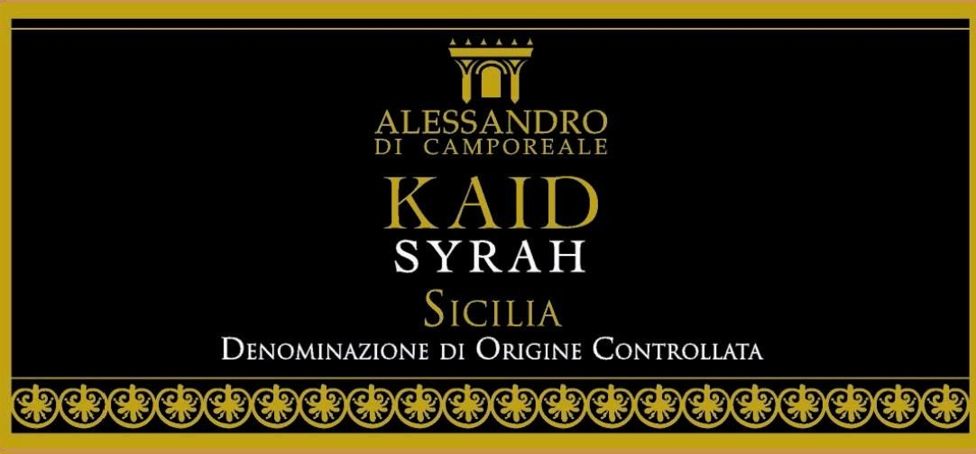 Alessandro di Camporeale Kaid Syrah 2013 Front Label