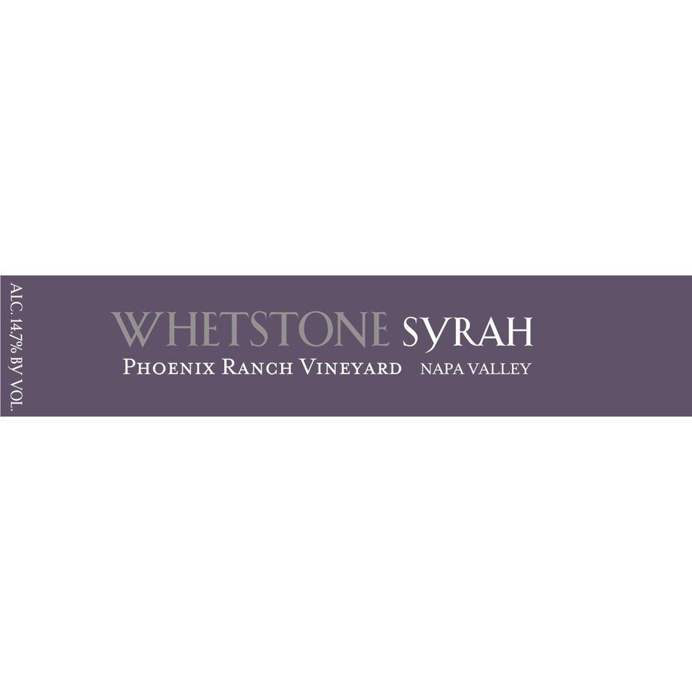 Whetstone Wine Cellars Phoenix Ranch Syrah 2009 Front Label