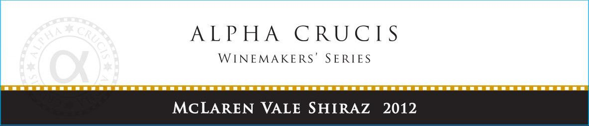 Alpha Crucis Winemakers Series Shiraz 2012 Front Label