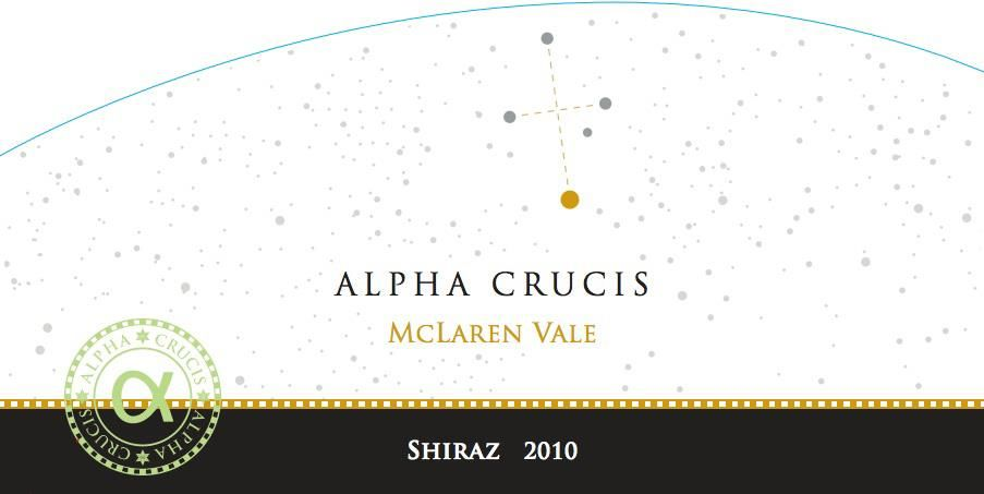 Alpha Crucis Shiraz 2010 Front Label