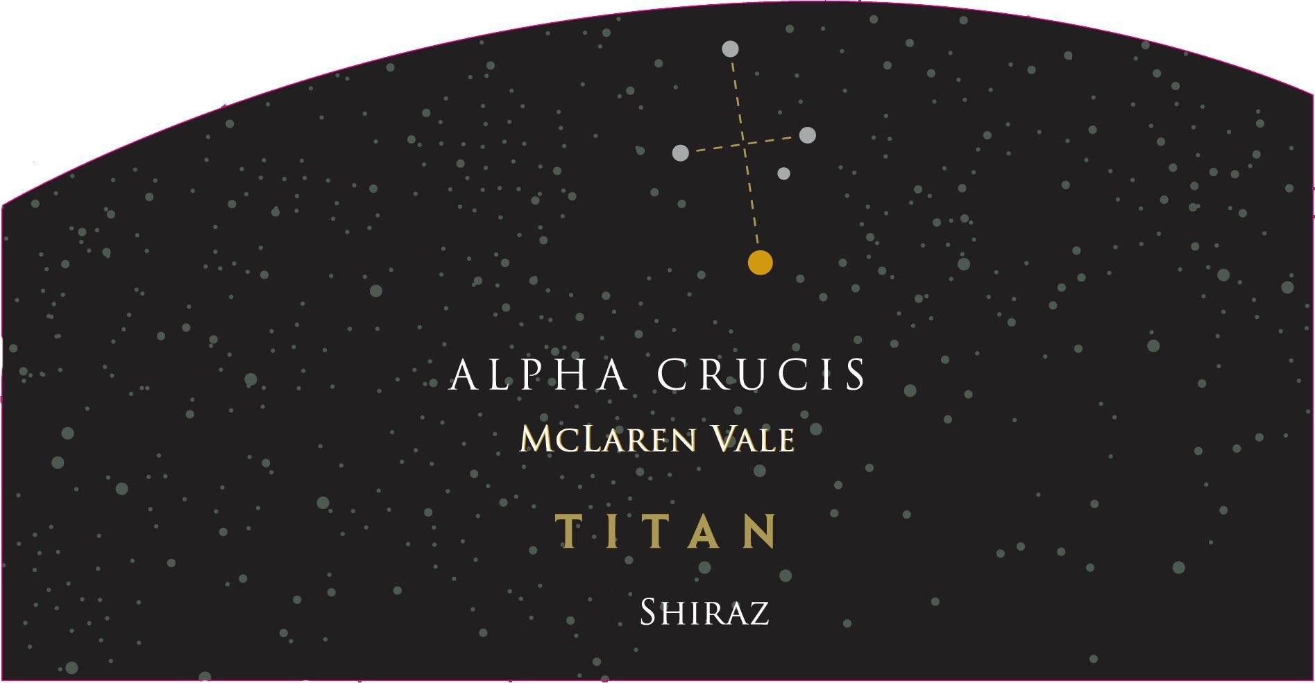 Alpha Crucis Titan Shiraz 2012 Front Label