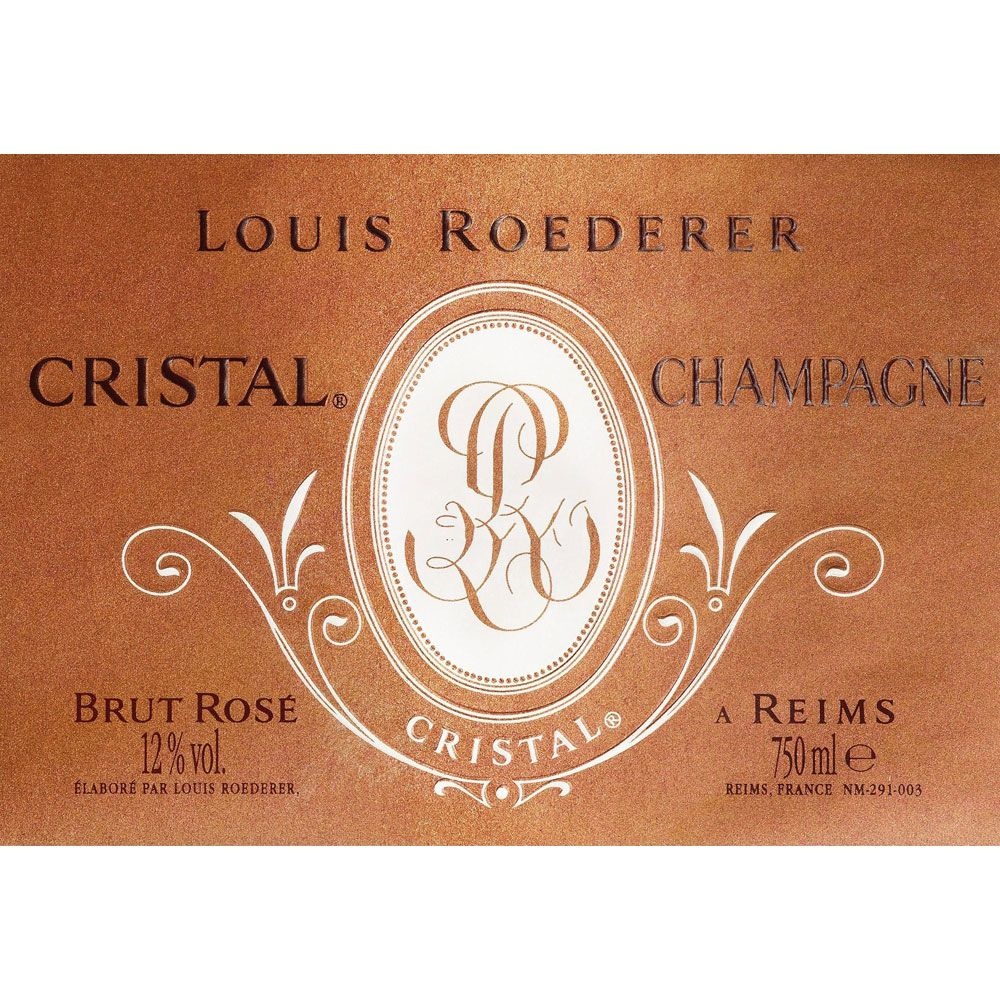 Louis Roederer Cristal Rose 2009 Front Label