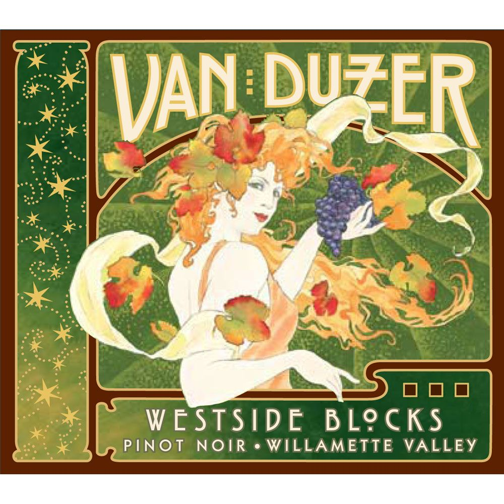Van Duzer Willamette Valley Pinot Noir 2014 Front Label