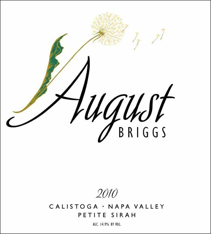 August Briggs Petite Sirah 2010 Front Label