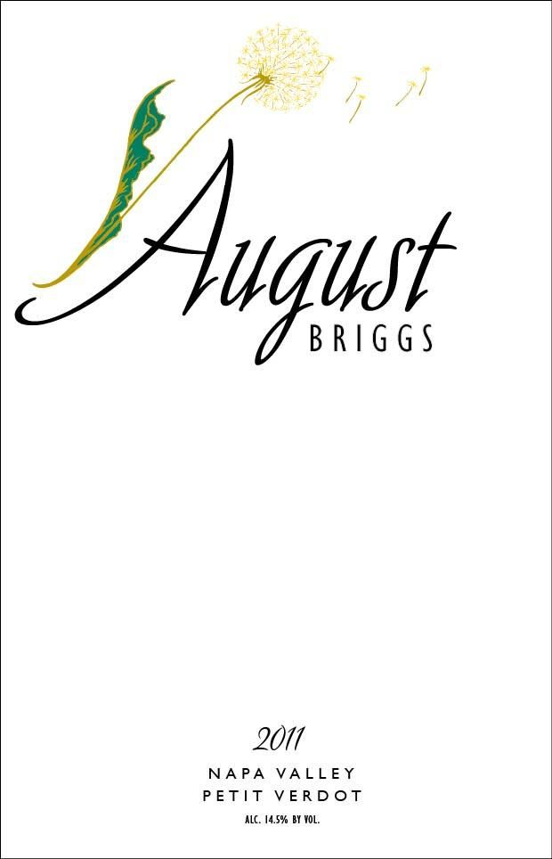 August Briggs Petit Verdot 2011 Front Label