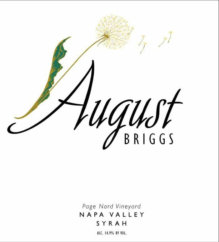 August Briggs Page Nord Vineyard Syrah 2012 Front Label