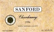 Sanford Barrel Select Chardonnay 1996 Front Label